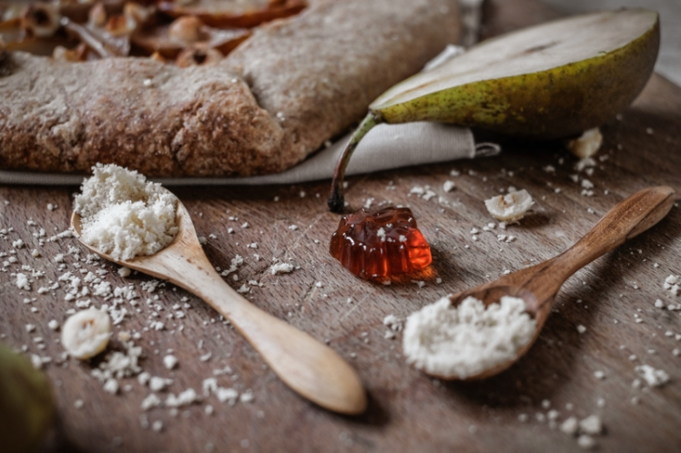 Tarte rustique vegan poire noisette erable 3