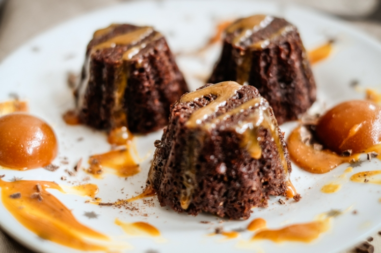 Moelleux chocolat-caramel VEGAN 4