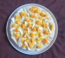 Tarte exotique mangue-coco-citron vert