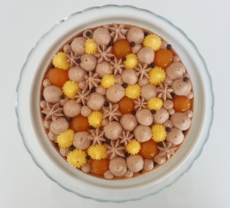 Tarte chocolat au lait-fruit de la passion