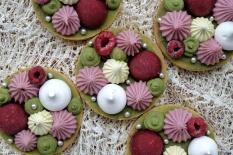 Tartelettes thé matcha-framboise