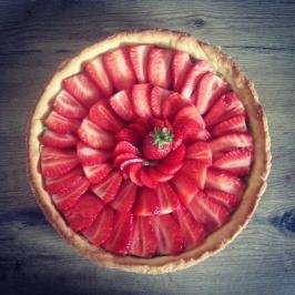 Tarte fraises-kiwi