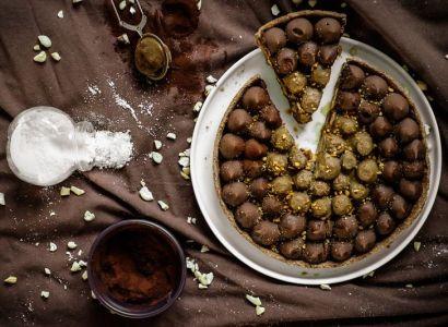 Tarte vegan chocolat-cacahuète